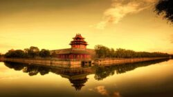 Beijing den forbudte by fra vandet