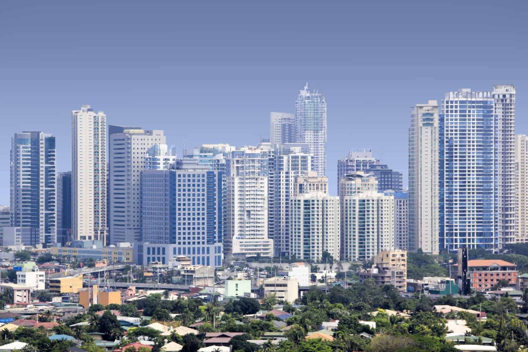 fort bonifacio modern financial and business district of metro manila in the philippines
