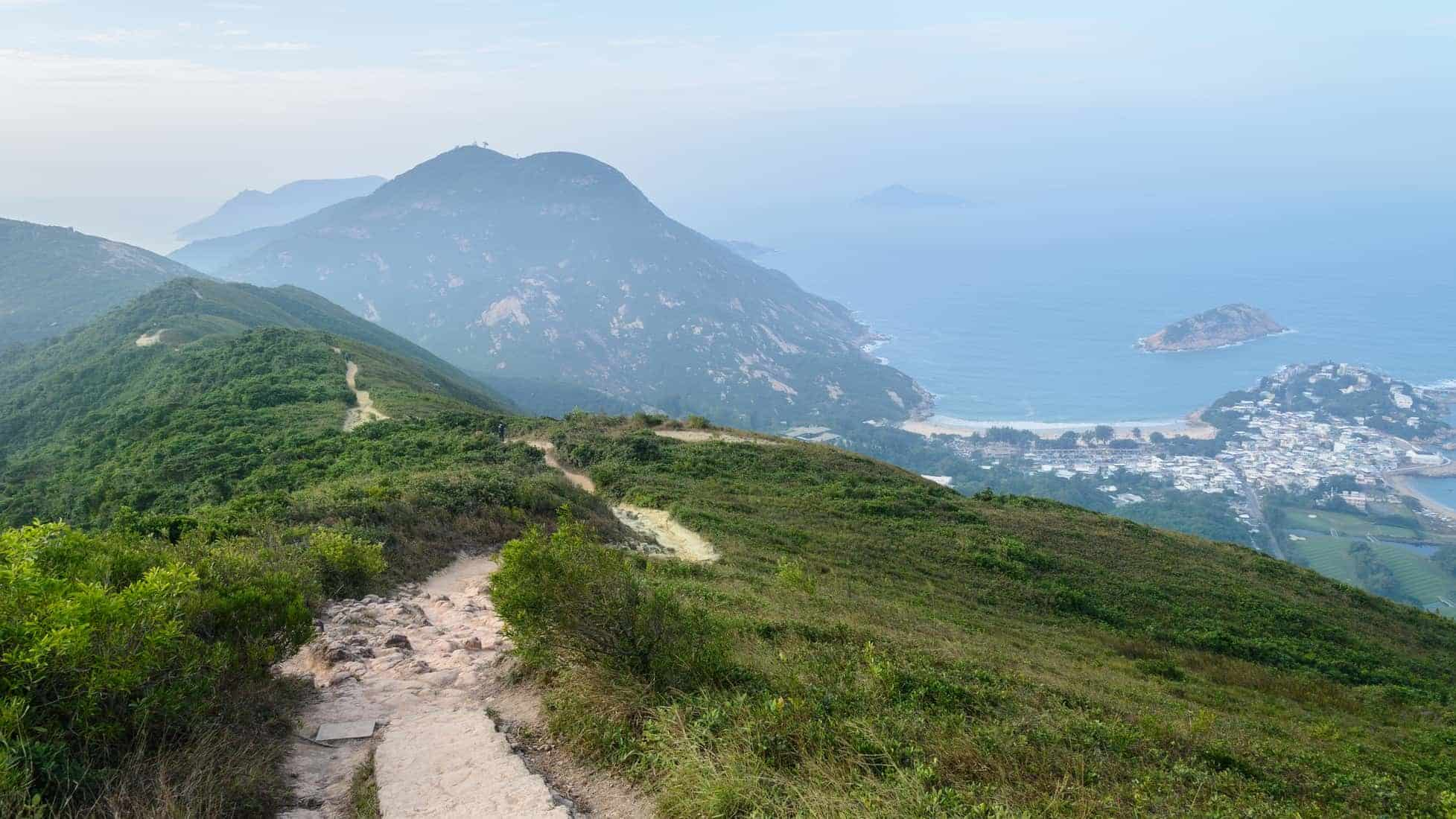 Hong Kong hiking trail scenery - Dragon's Back