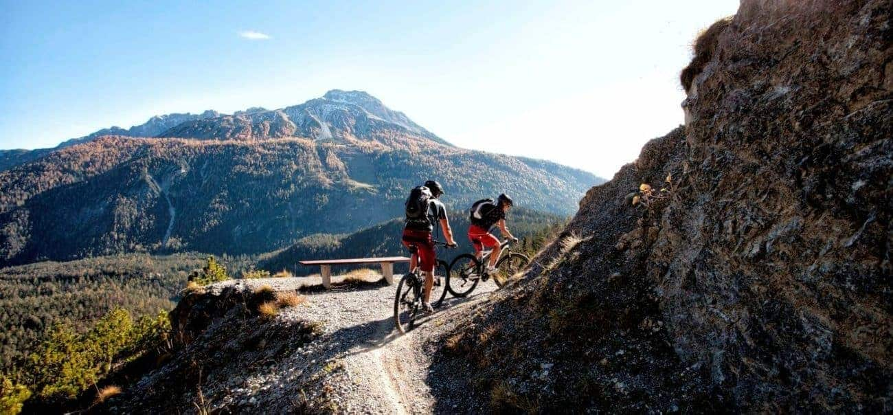 See Zugspitz from a mountainbike
