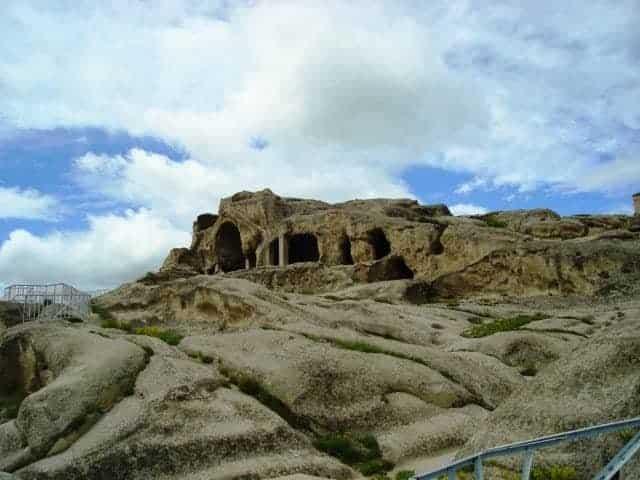 Rare cave dwellings in Georgia. Uplistsikhe_ruins