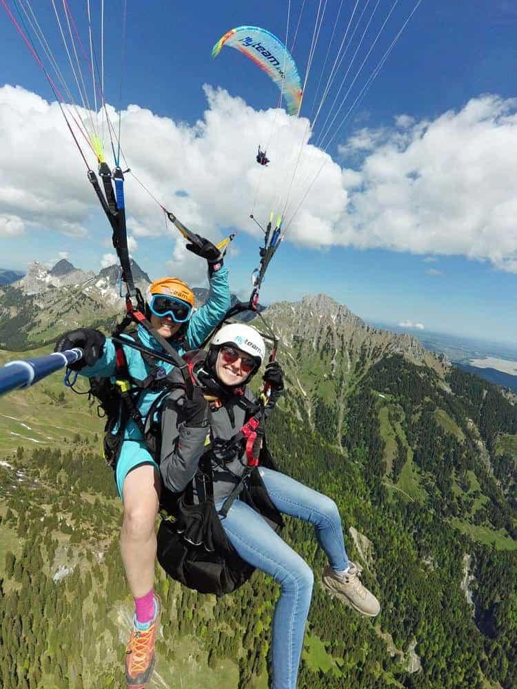 Zugspitz tandem paragliding gleitschirmfliegen