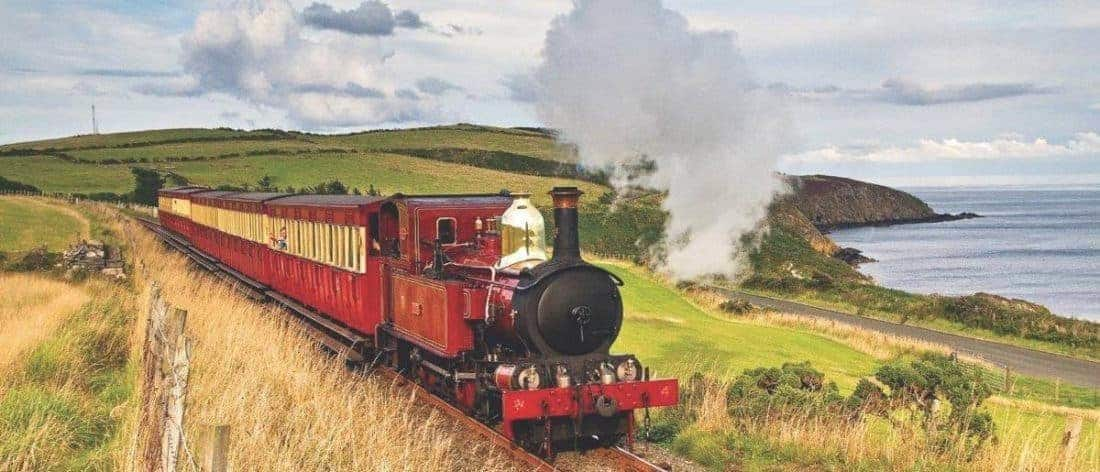 Isle of Man, sightseeing from a steamtrain?