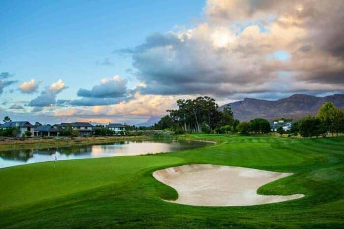 Pearl Valley golf course, South Africa, bunker