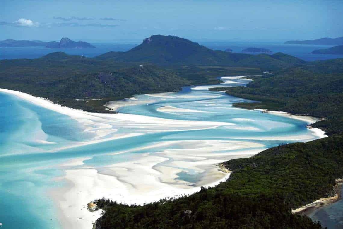 Queensland Australia - the spectacular coast line from the air