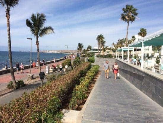 Gran Canaria. Melanores beach promenade