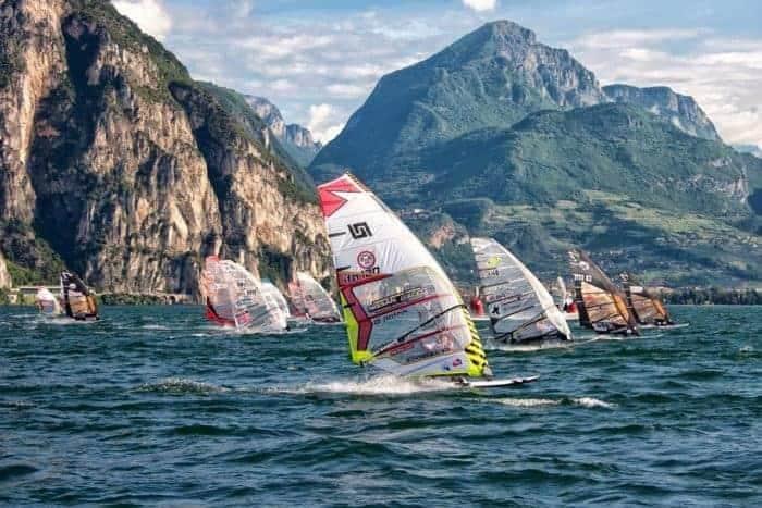 windsurfing the  Garda Lake