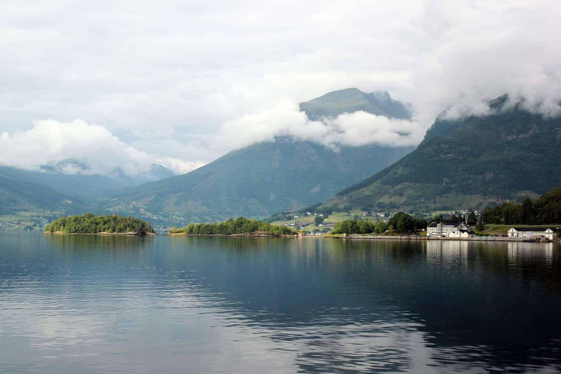 Hardangerfjord, the second longest fjord in Norway.