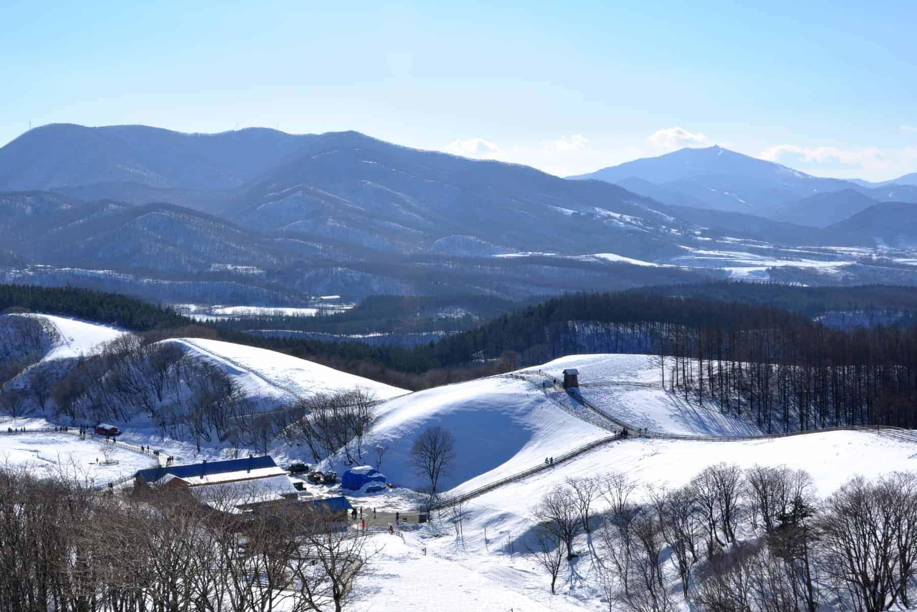 Snowy mountains in South Korea