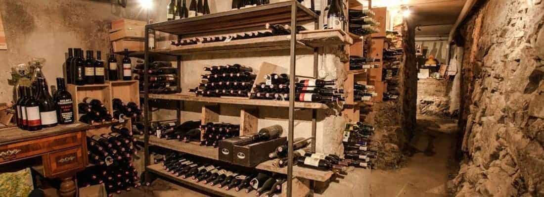 Angerer-Alm-St.-Johann-in-Tirol-a labyrinthine wine cellar in the mountain.
