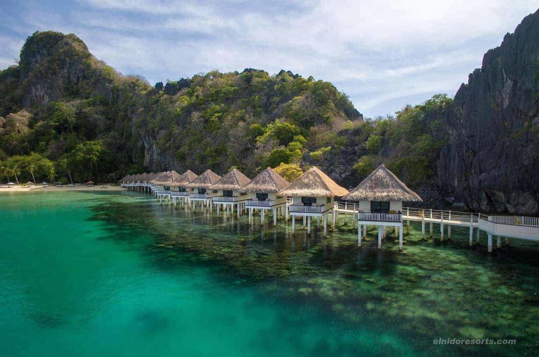 El Nido resorts, Apulit-Island-Water-Cottages Palawan