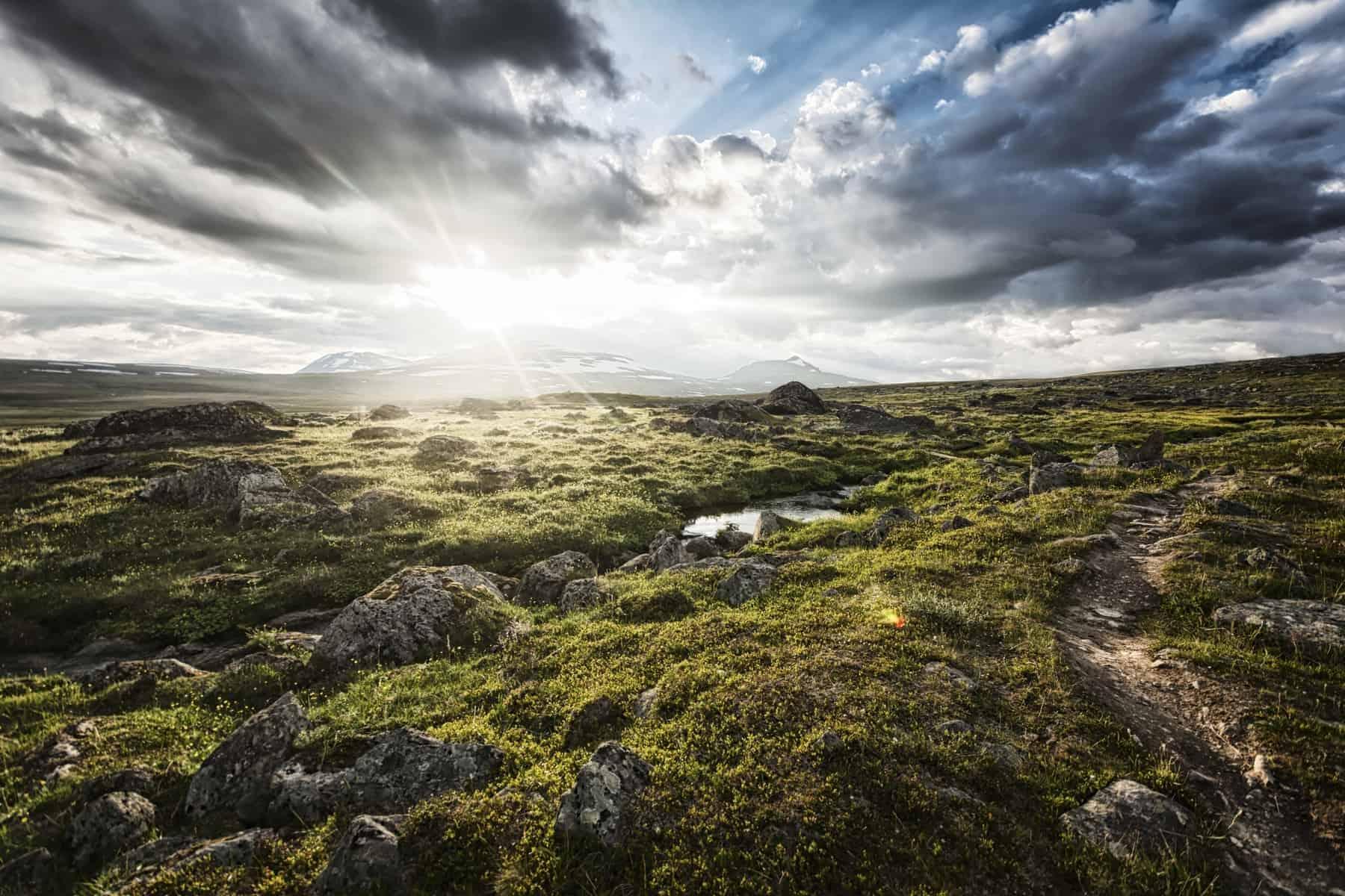 Landscape in Lapland, northern Sweden