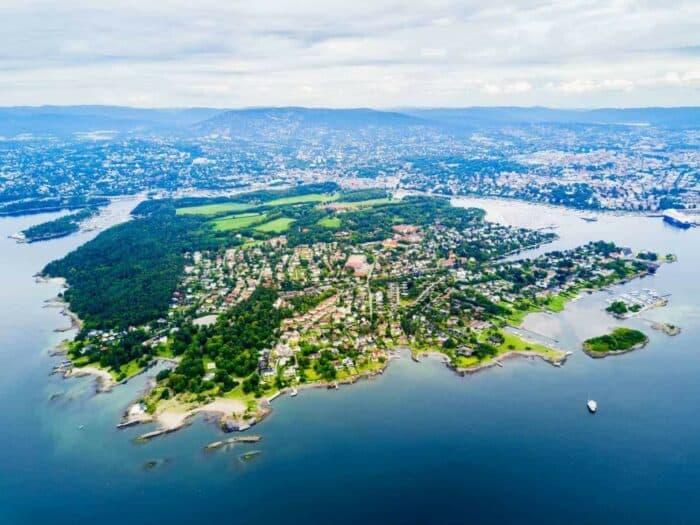 Bygdøy en smuk halvø ved Oslo