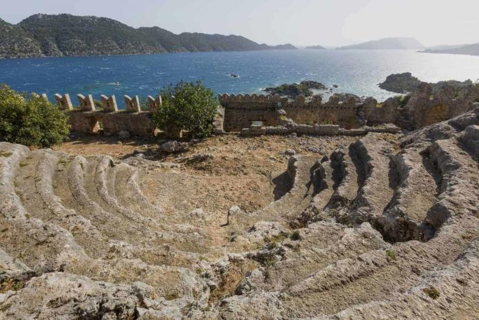 Antalya. Ancient theatre built by the Lycians in the ancient site of Simena, near the town of Kas.