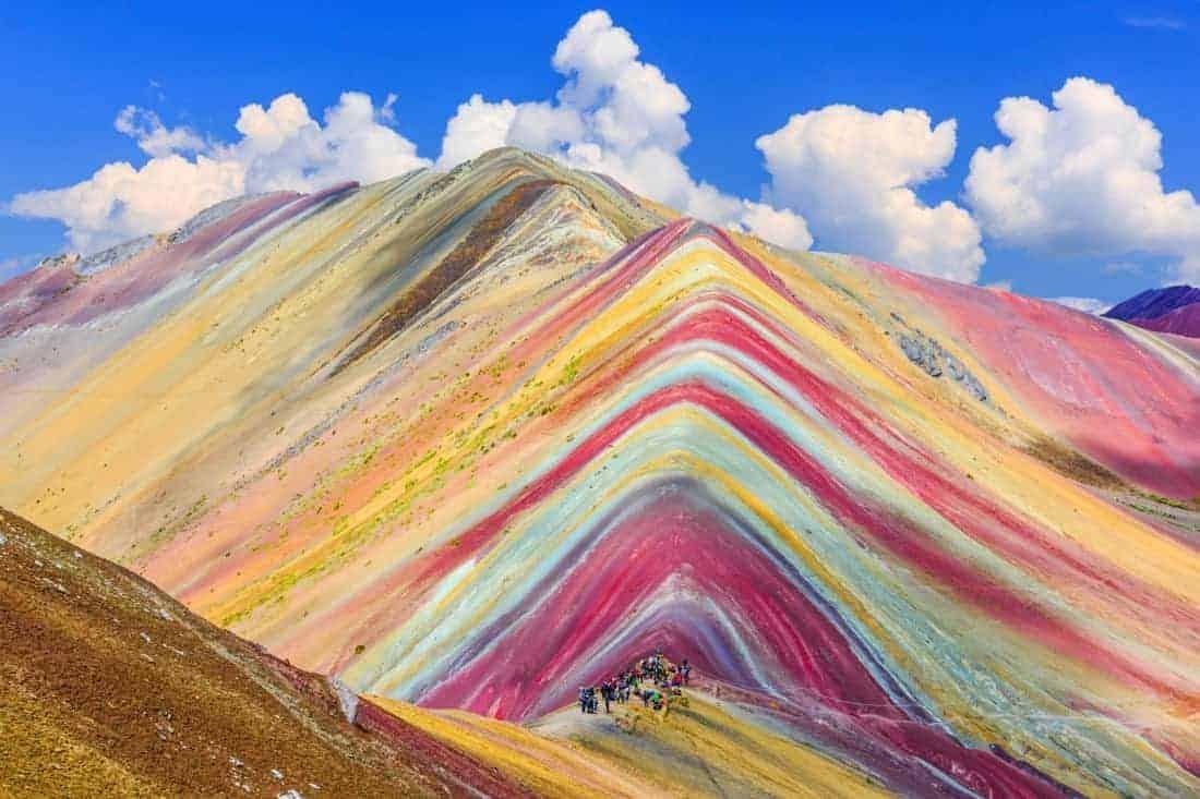 Cusco Region,Vinicunca, Peru. Montana de Siete Colores, or Rainbow Mountain.