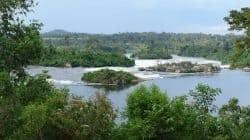 Nilen nära Jinja i Uganda