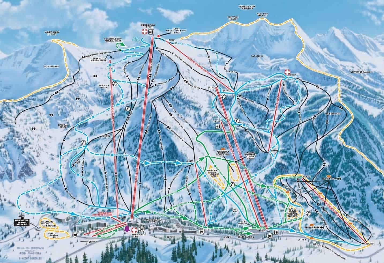 Piste map, Snowbird, Utah