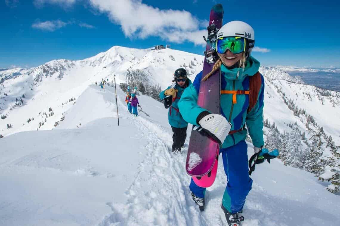 Snowbird, happy skiers on top of the world