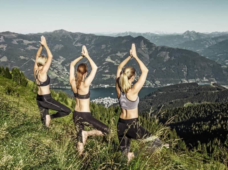 Wellness in Kleinwalsertal, yoga at a high level
