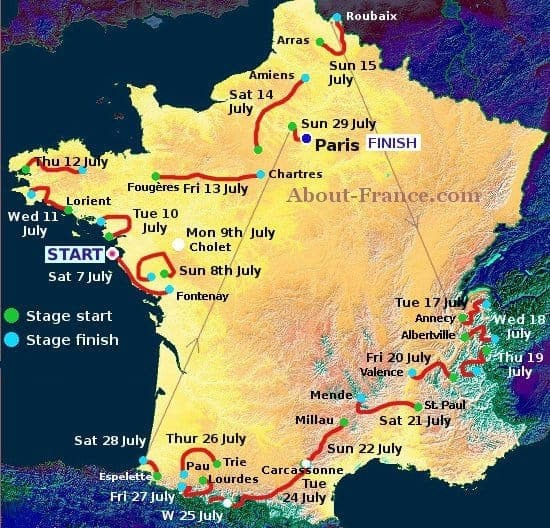 Tour De France As Travel Inspiration In France Travel Talk