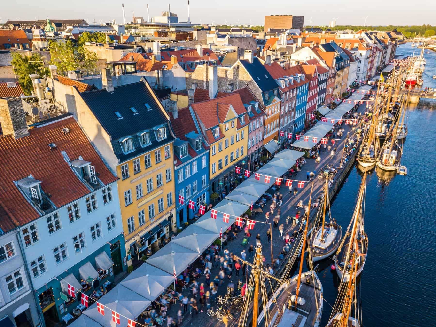 Denmark, New Harbour in Copenhagen