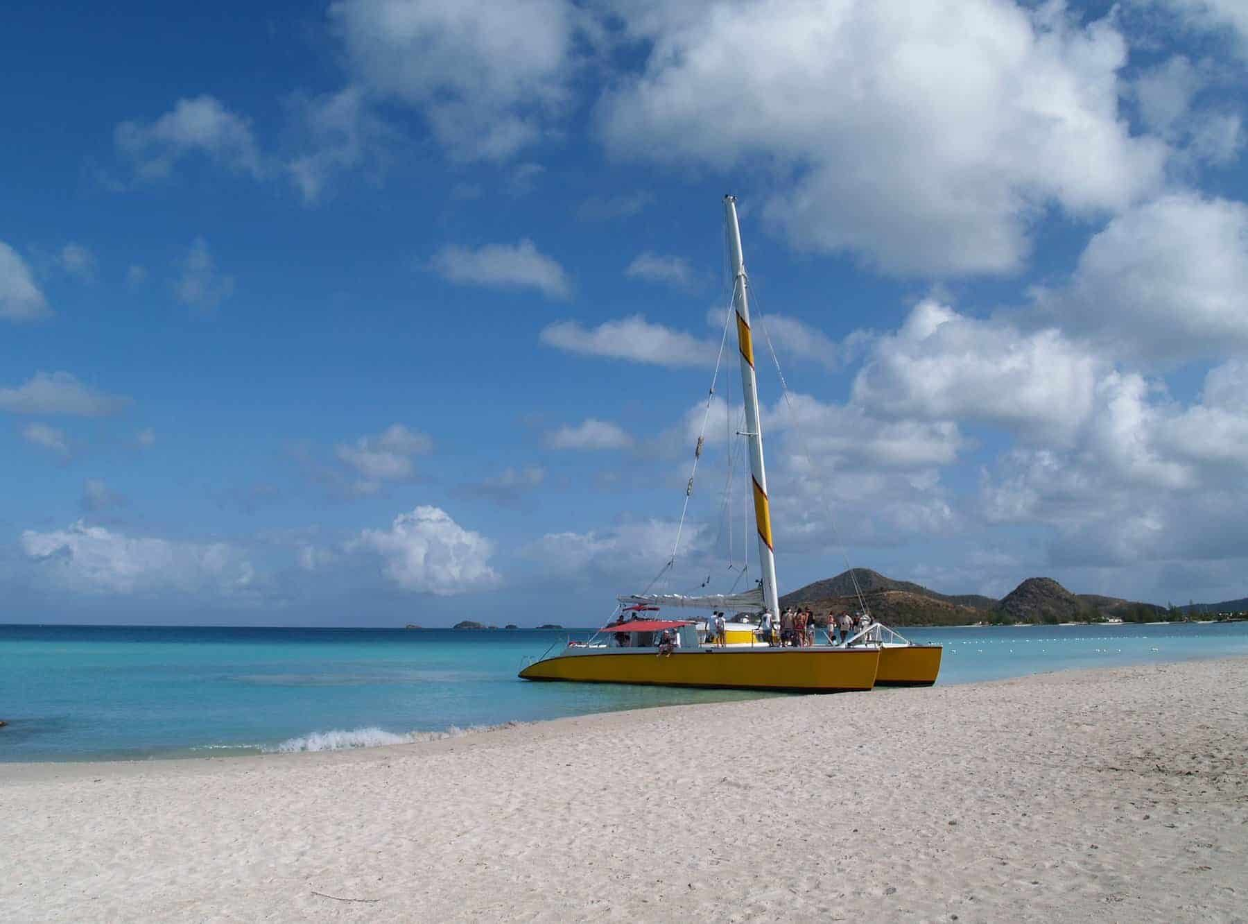 Catamaran at Jolly beach on
