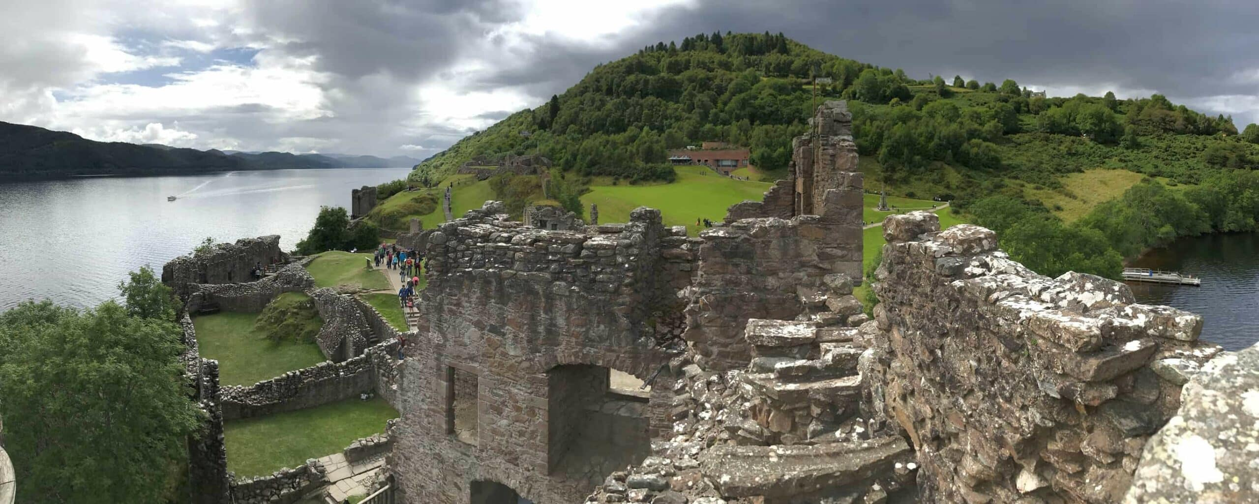 Urquhart Castle in Drumnadrochit, Inverness in the United Kingdom