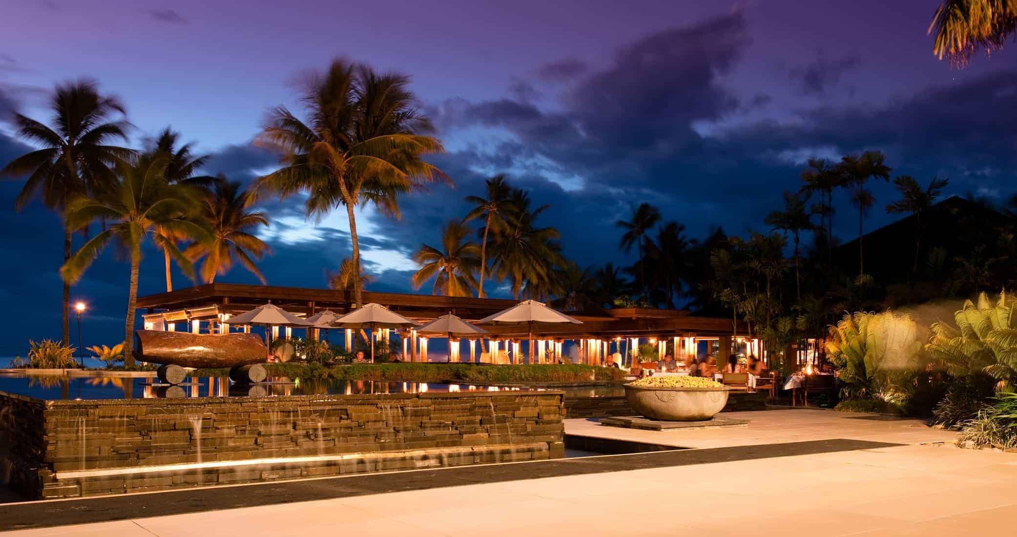 Fiji resort sunset