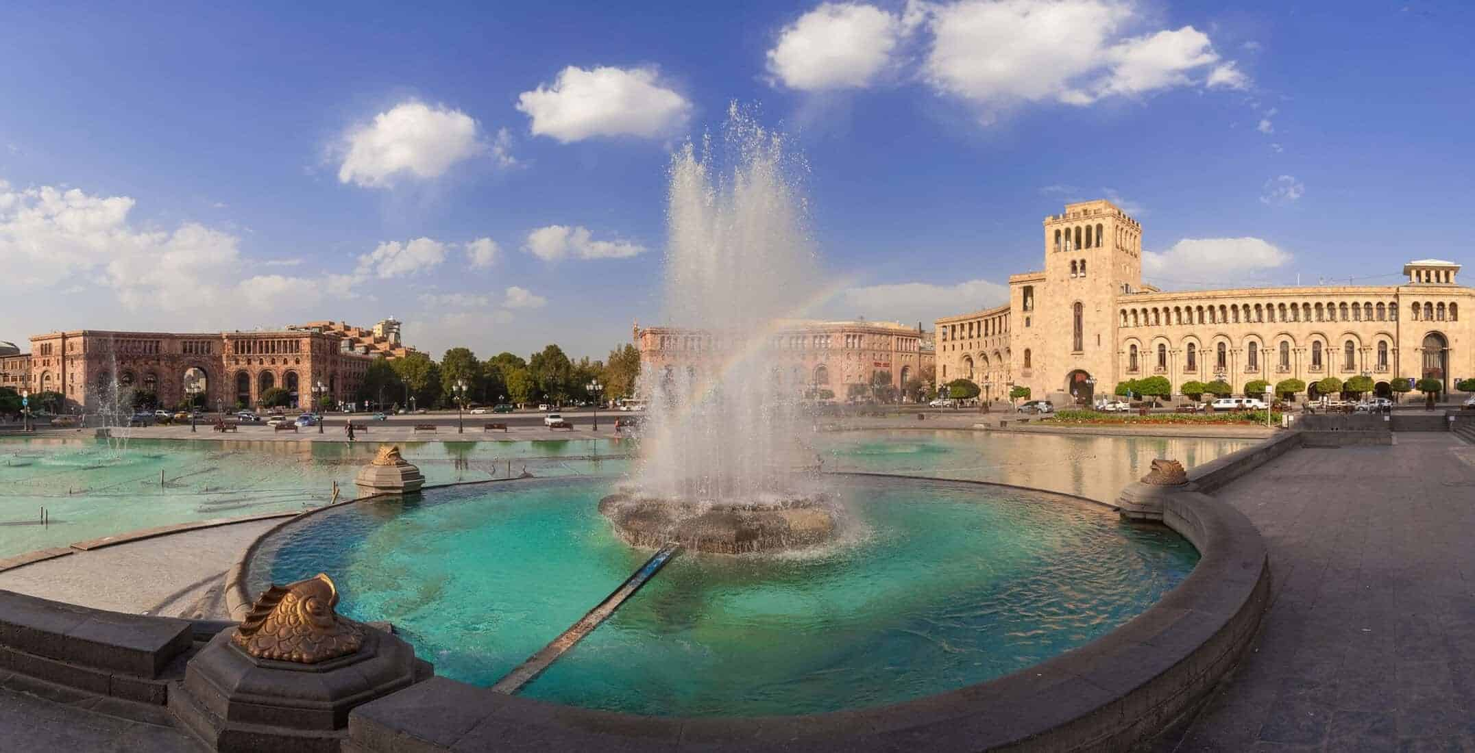 fountain-on-a-central-square-of-the-city-of-Yerevan-in-Armenia