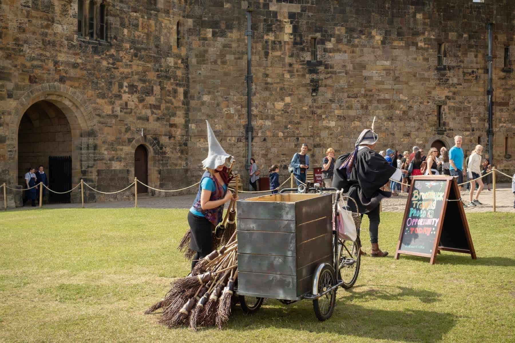 Alnwick Castle - broomstick training sessions inspired by Harry Potter movies. Trainings at the same spot as Harry Potter had a lesson in movie.