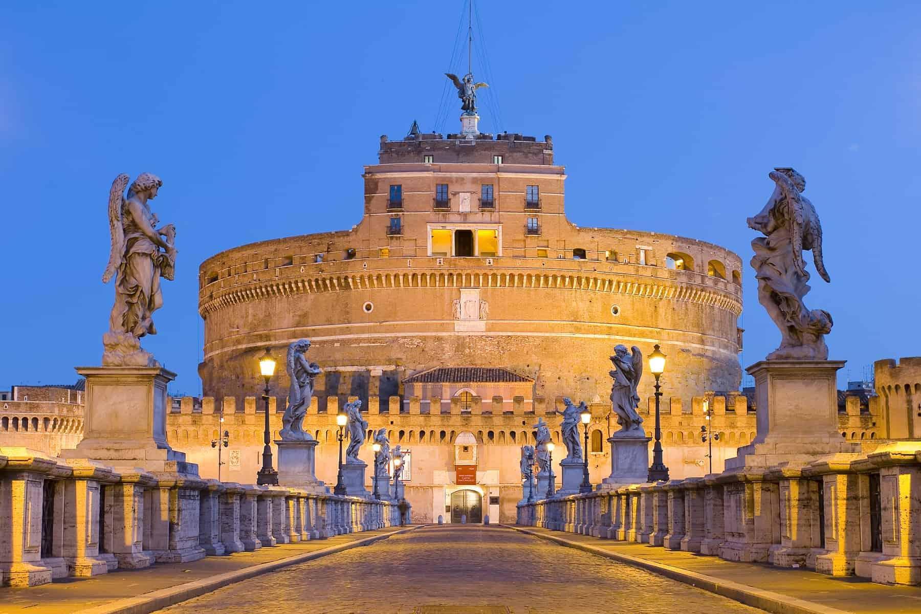 Castel Santangelo in Rome, Italy.