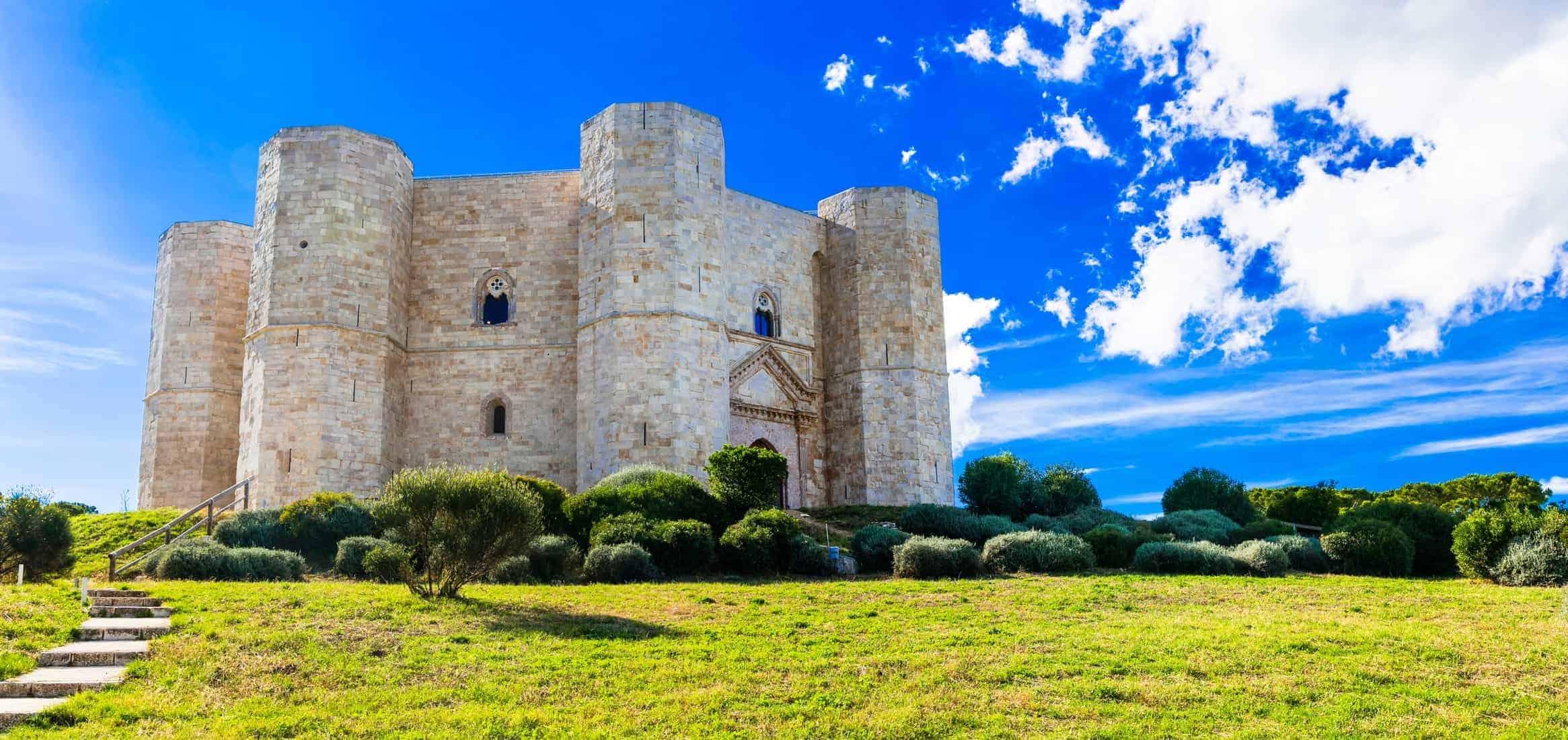 Unique octagonal castle Castel del Monte, Puglia, Italy.