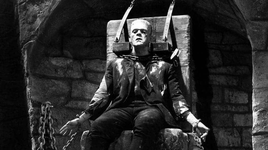 Frankenstein castle, Boris Karloff in the movie from 1931