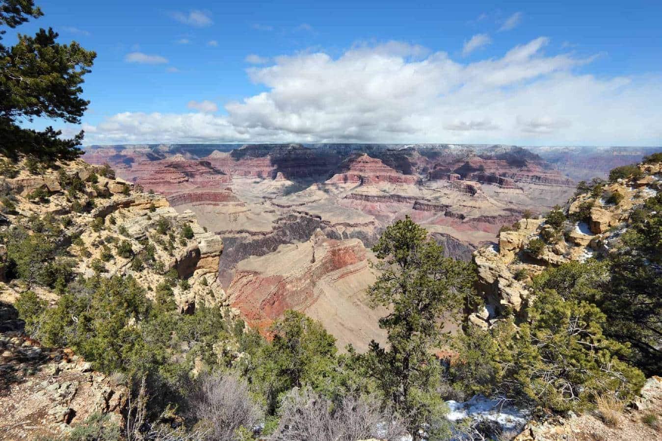 Grand Canyon National Park in Arizona, United States. The beautiful Yavapai Point overlook.