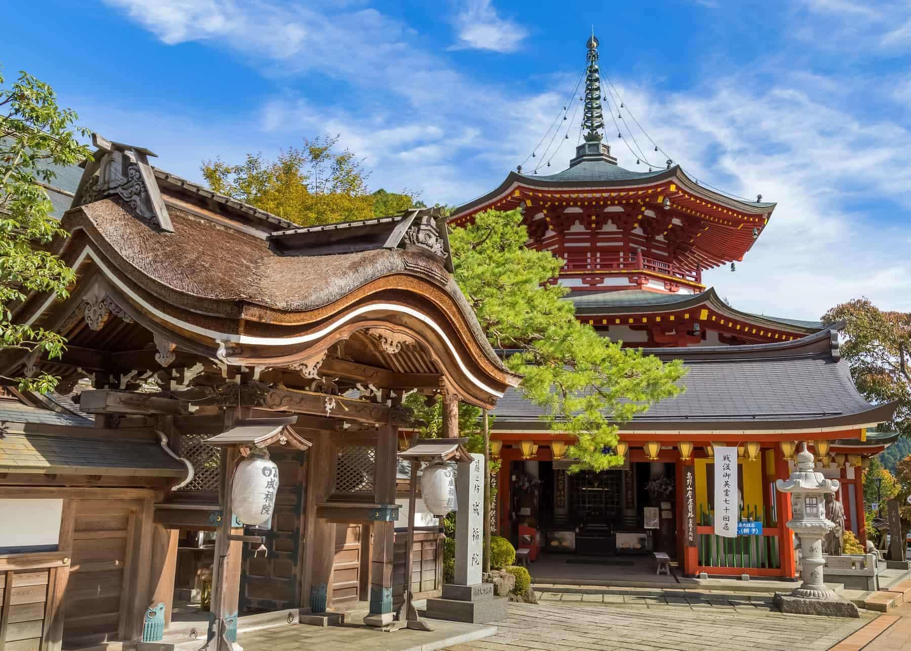 Jofuku-in Temple in Koyasan (Mt. Koya) Wakayama.