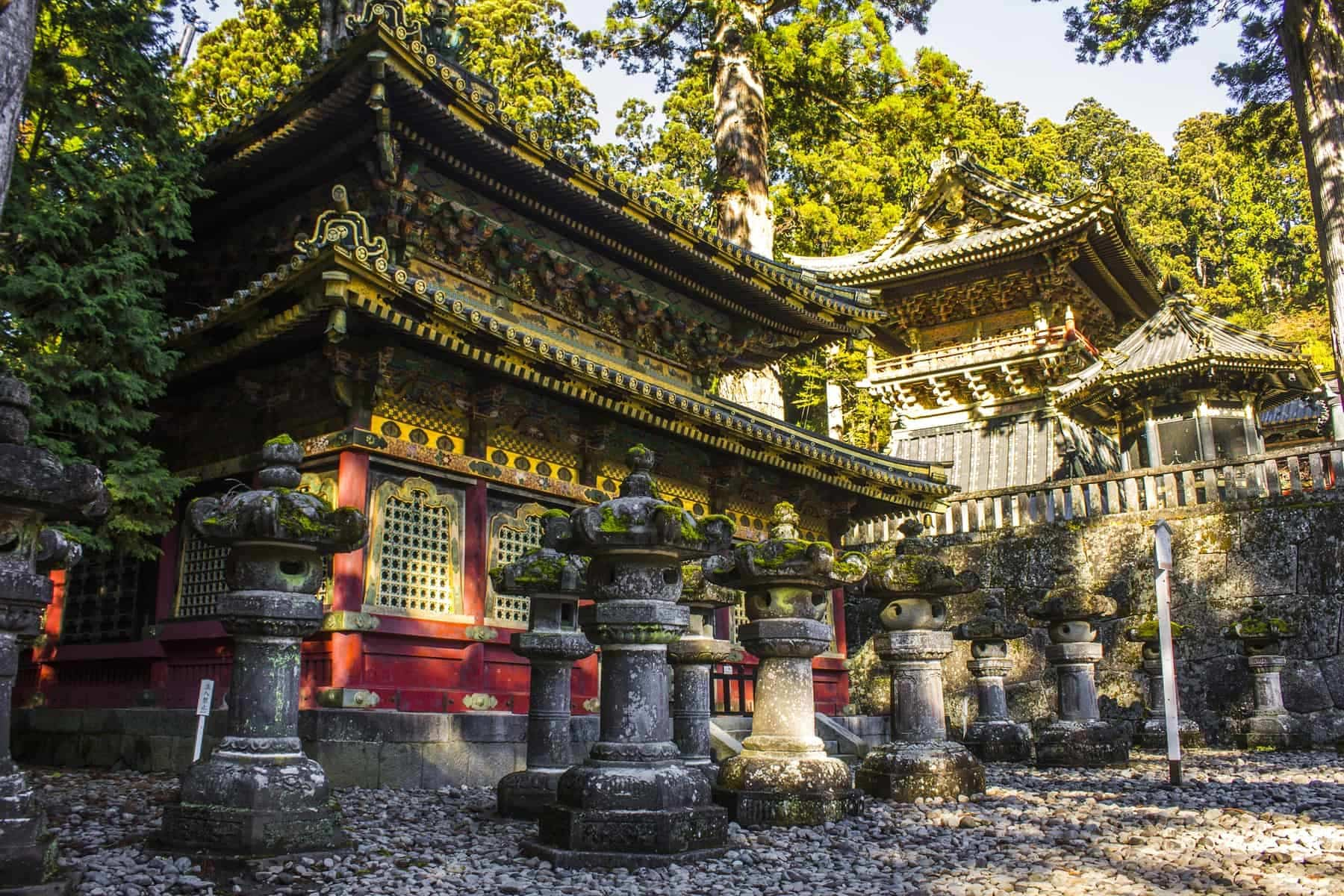 Tosho-gu, a Shinto shrine dedicated to Tokugawa Ieyasu, the founder of the Tokugawa shogunate, located in Nikko, Japan. A World Heritage Site since 1999