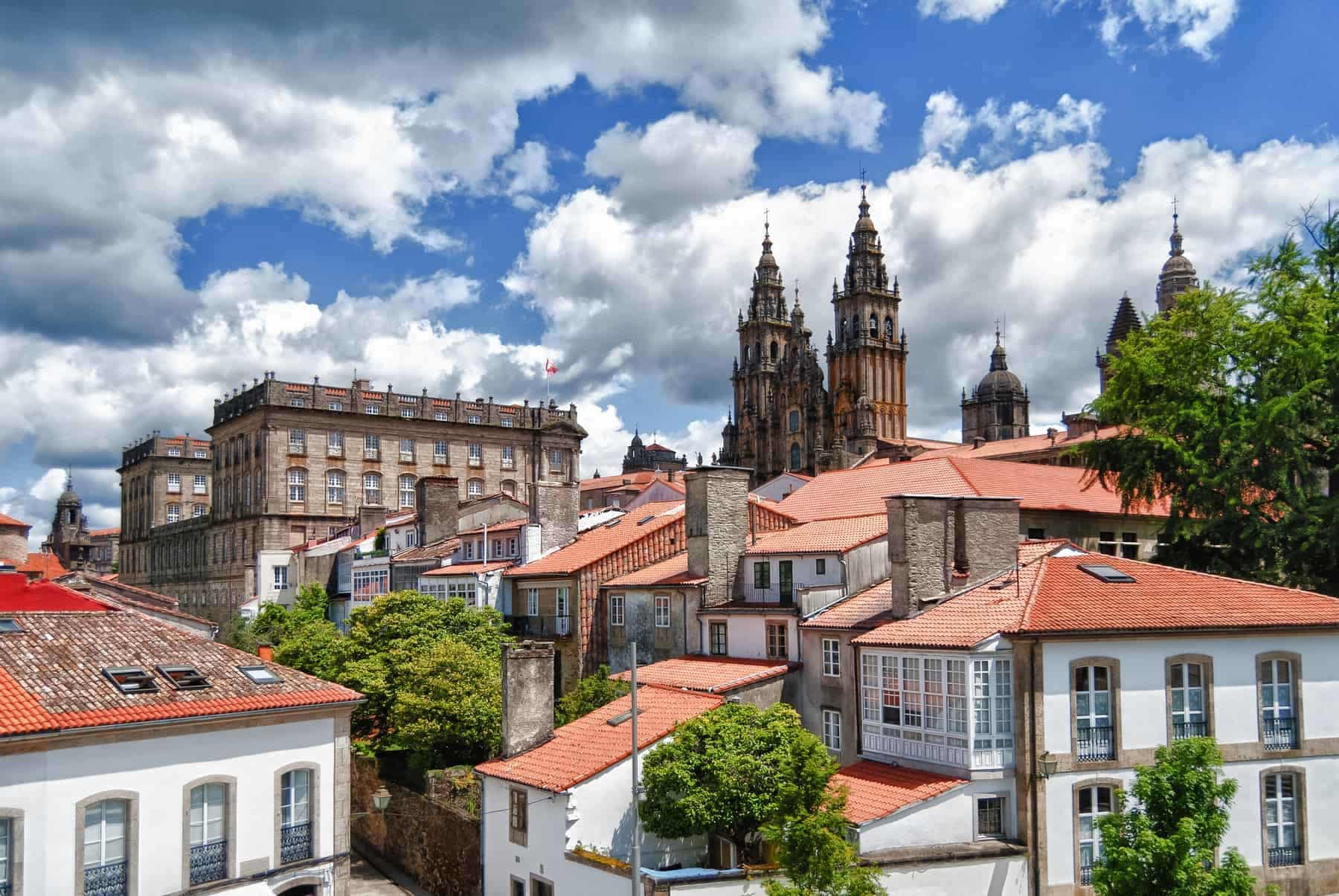The Cathedral of Santiago de Compostela is one of the greatest pilgrimage destinations for the Catholic religion