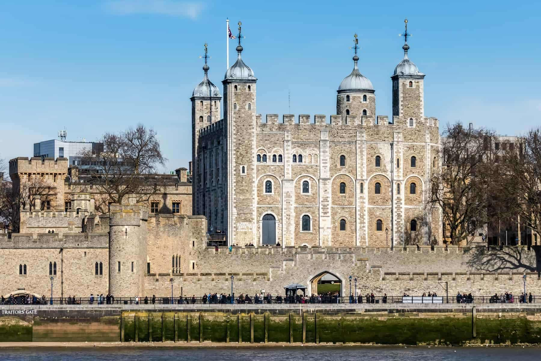 View of the Tower of London on March 7, 2015. Unidentified people.