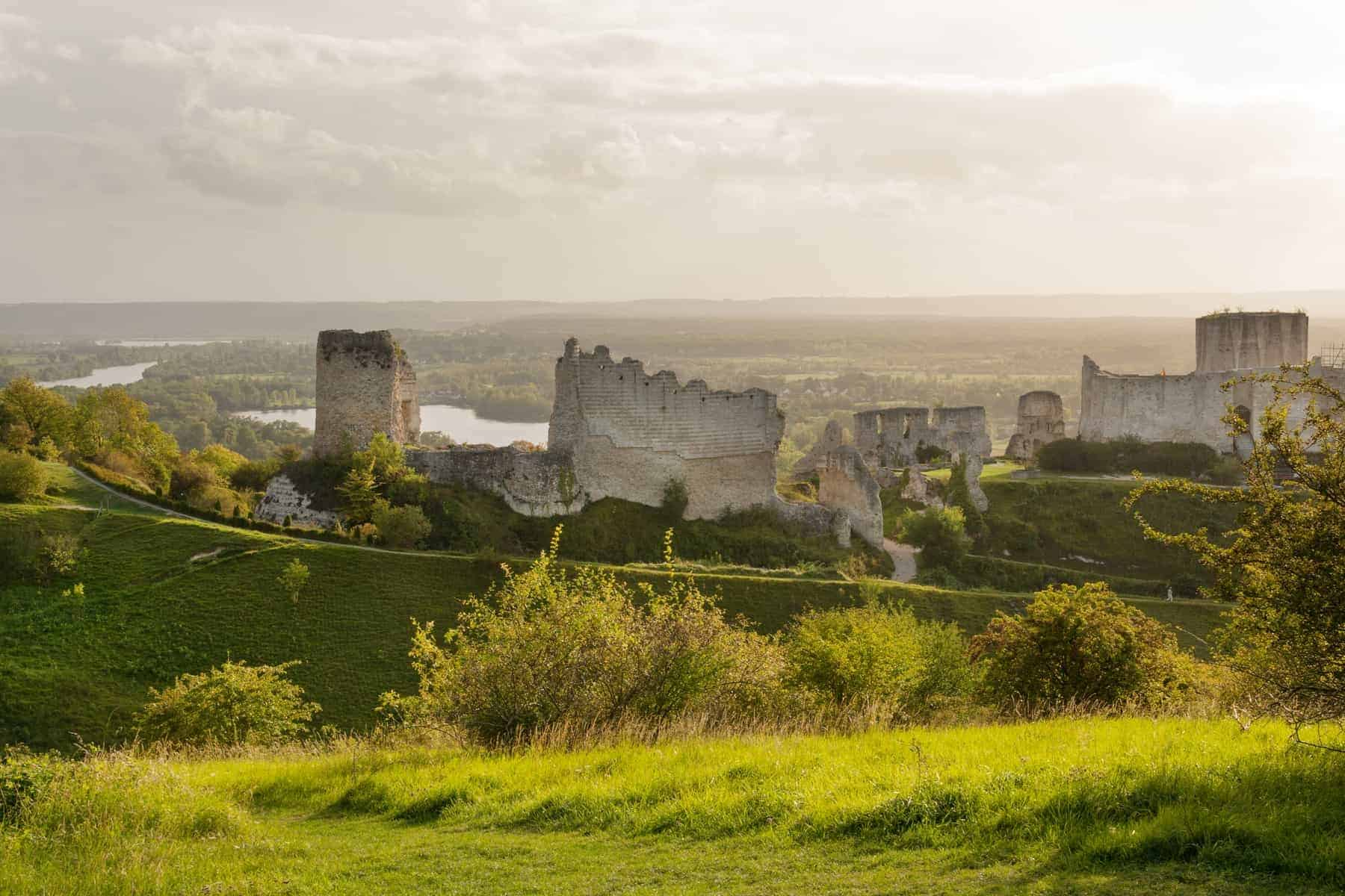 Chateau Gaillard, ruined famous castle of Richard the Lionheart, Normandy