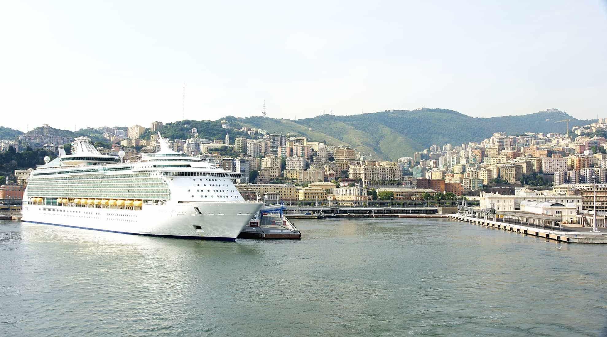 Transatlantic passenger terminal in Genoa, Italy