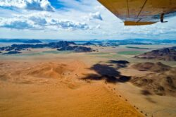 Namibia landscape from plane