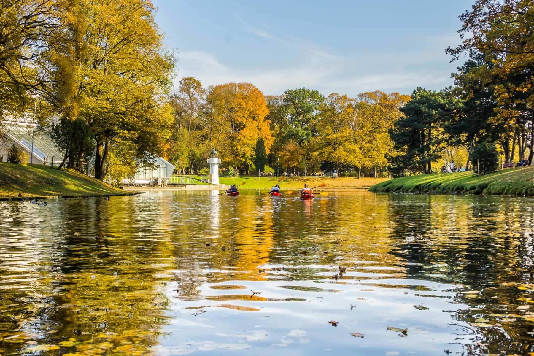 kayak trip on the river Daugava and the canal around the old city, closing the season on October 13, 2018