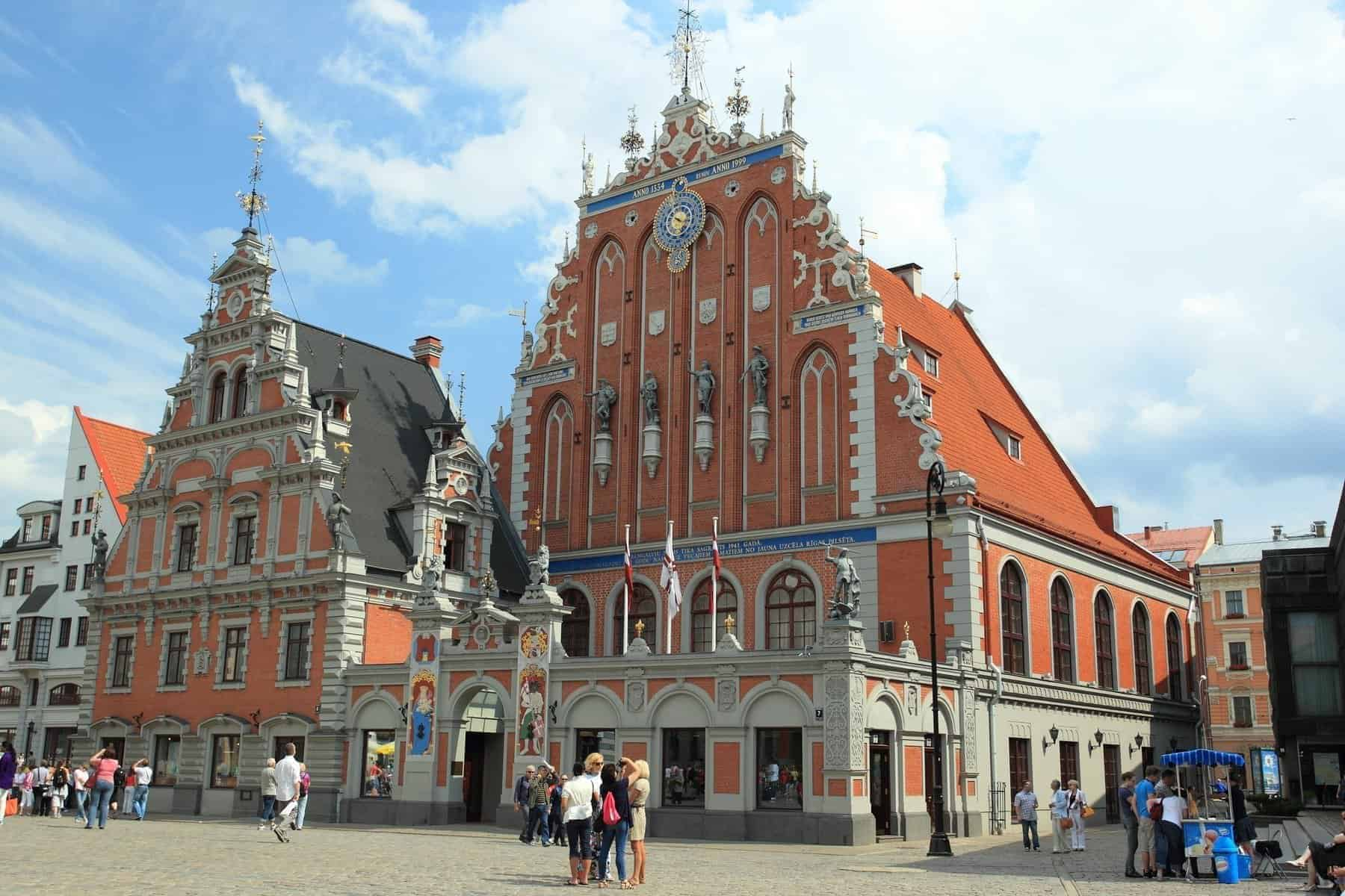 The House of the Blackheads in old Riga, Latvia.
