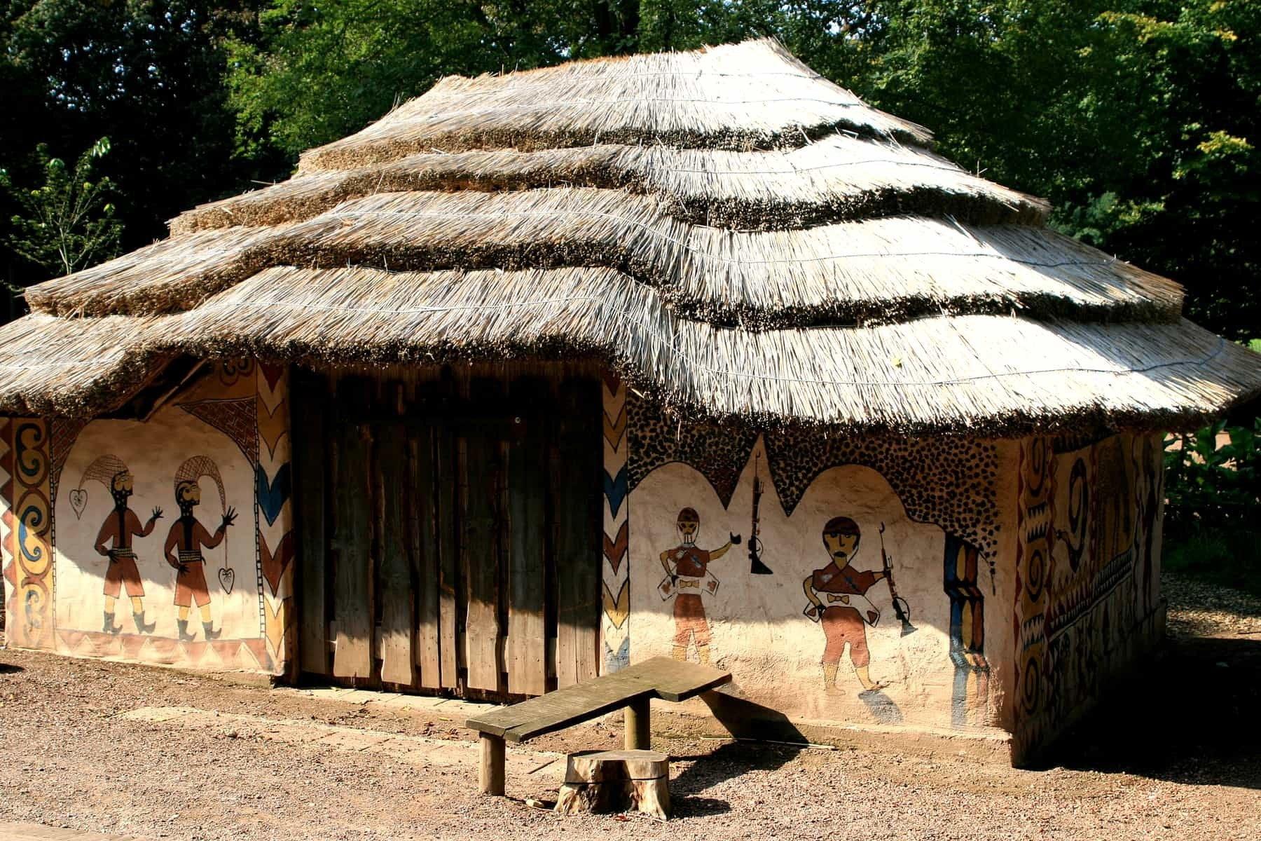 Angola painted house