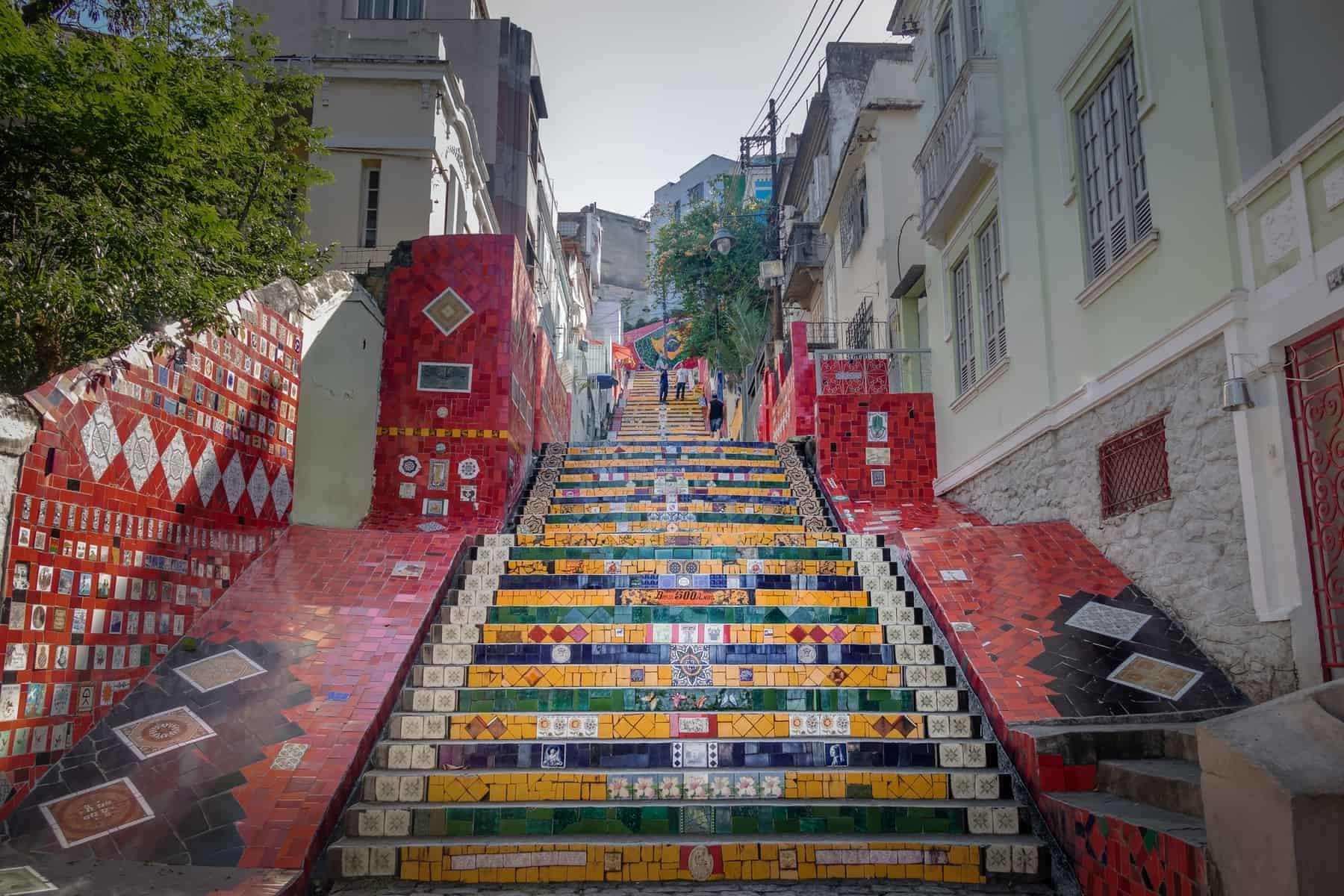 Escadaria Selaron Steps - Rio de Janeiro, Brazil. Destination, south.