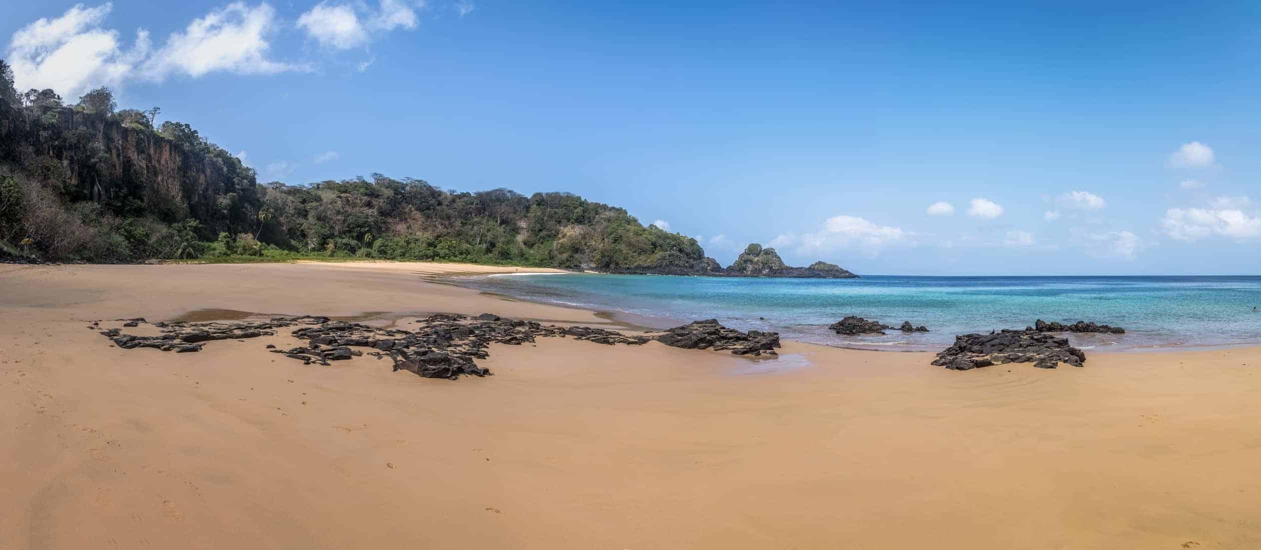 Panoramic view of Praia do Sancho Beach - Fernando de Noronha, Pernambuco, Brazil