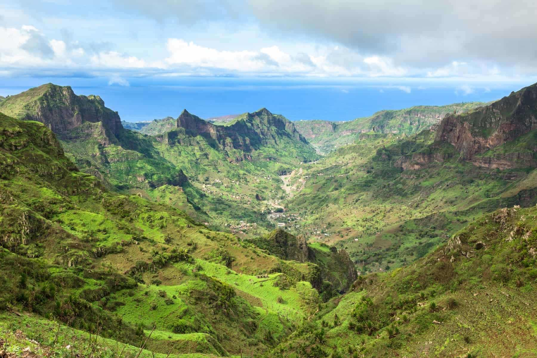 Smallest Countries in Africa: Cape Verde. Lush green mountains