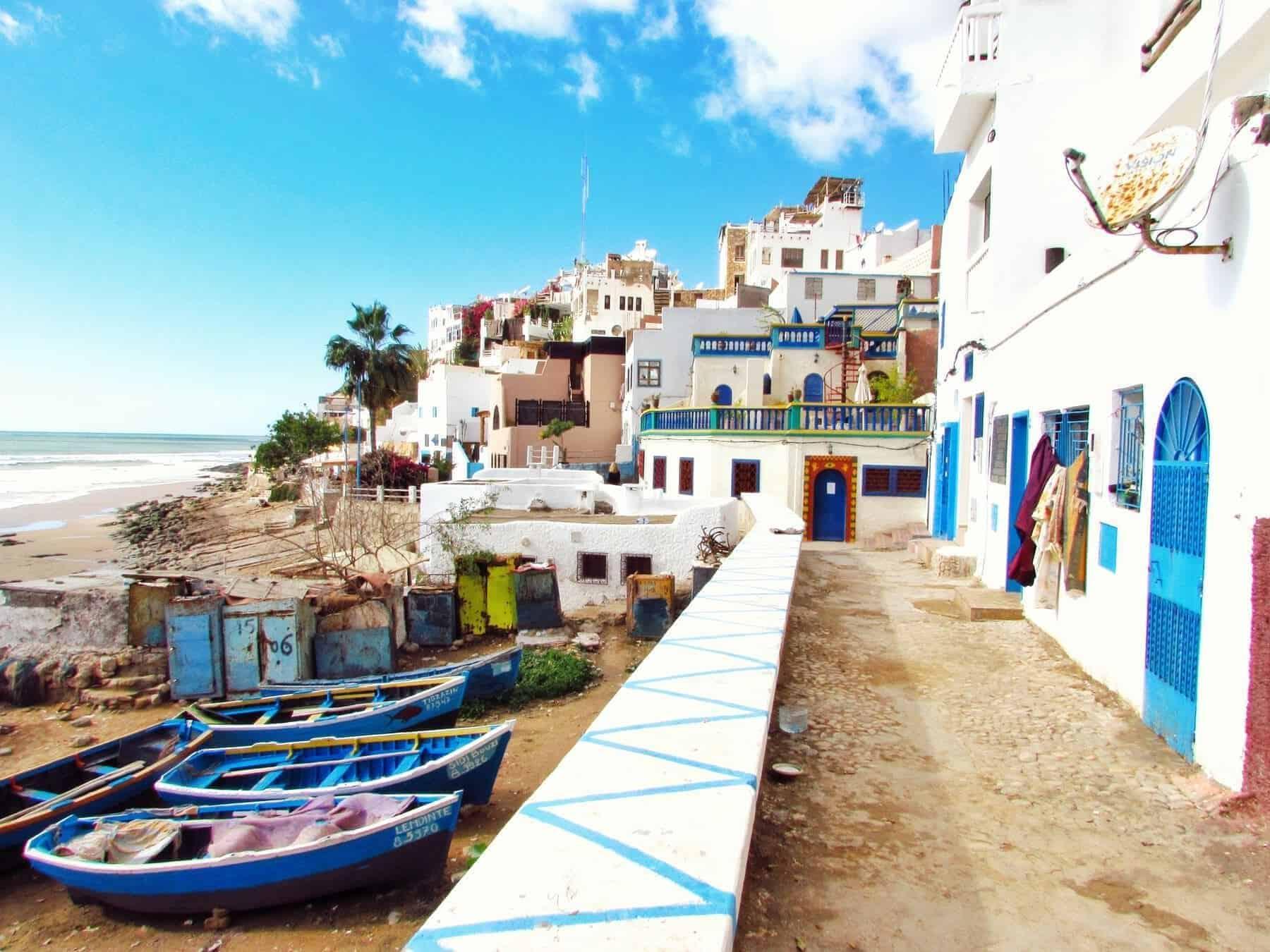 Morocco, Boat on shore louis-hansel