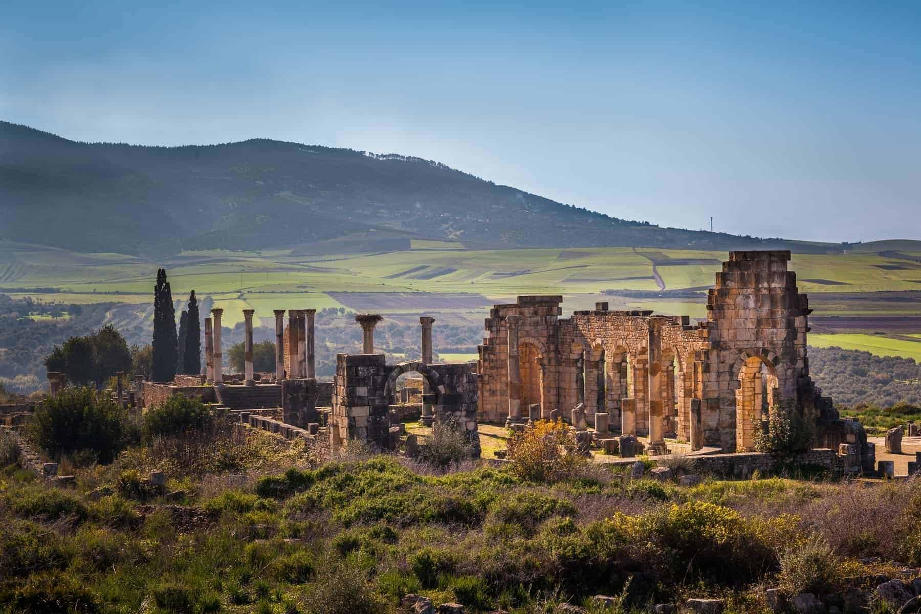 View of the Basilica, Volubilis, Morocco