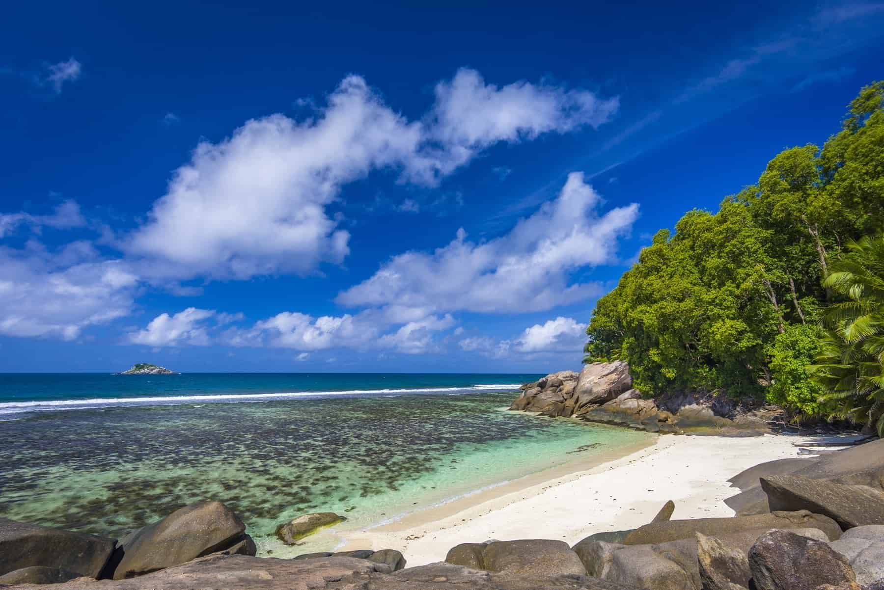 Moyenne Island is a small island in the Ste Anne Marine National Park off the north coast of Mahé, Seychelles